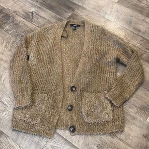 NWOT Brown Eyelash Cardigan
